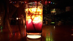 Photo of a Black Russian cocktail by Albert Lam.